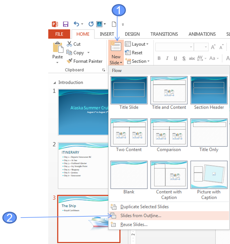 Import a Word Outline into PowerPoint