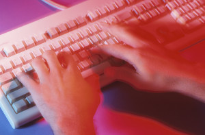 Practice proper typing posture and technique