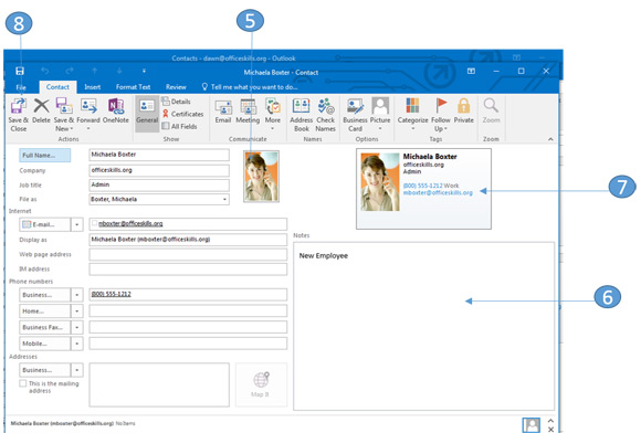 how to open shared contacts in outlook 2016