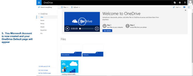 OneDrive Default Page