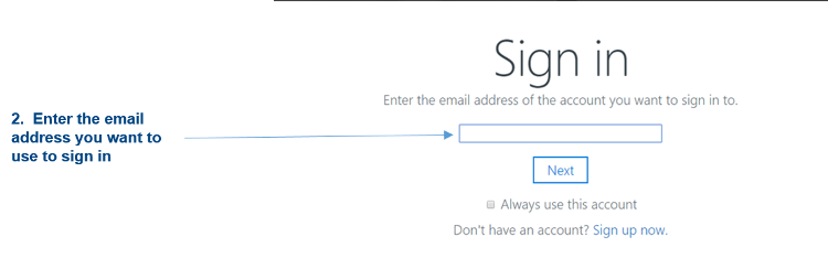 Login to OneDrive