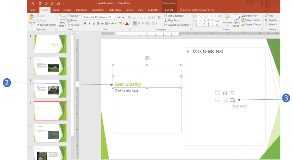 Insert a video in PowerPoint