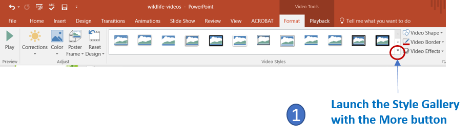 More button in PowerPoint