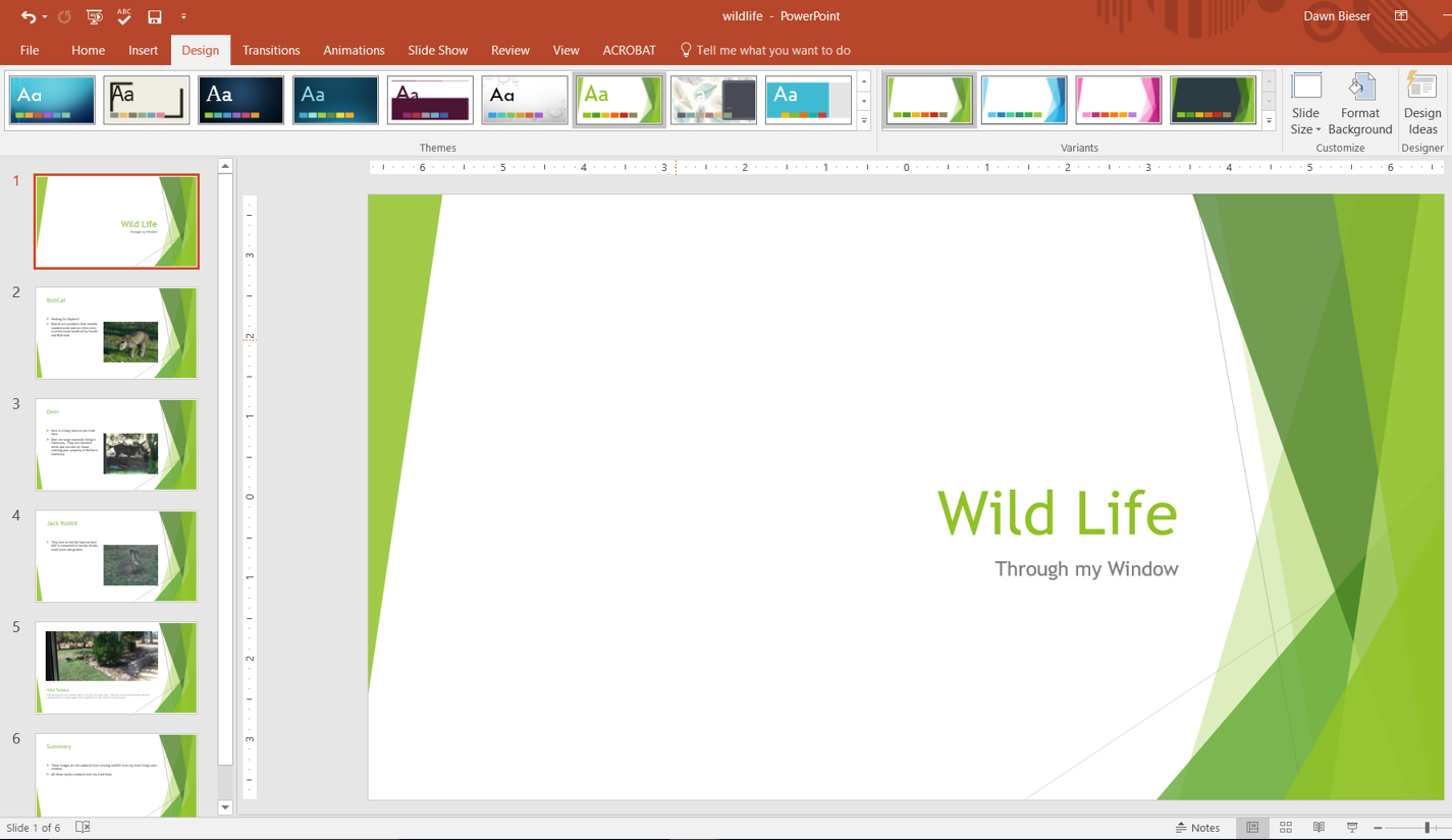 sample powerpoint presention