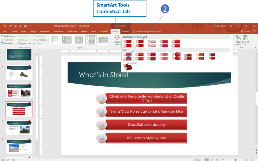 Styling SmartArt in PowerPoint