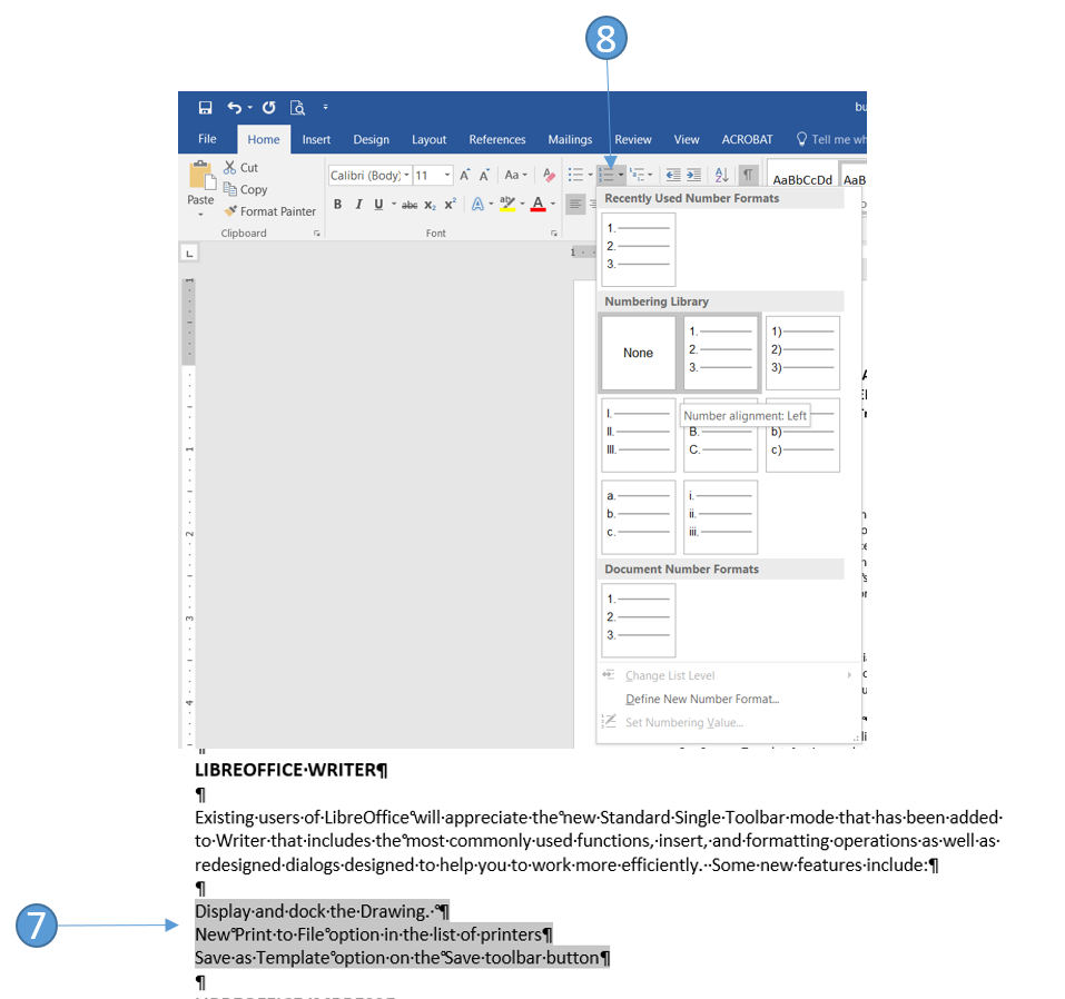 Format a one-page business report in Word 2016