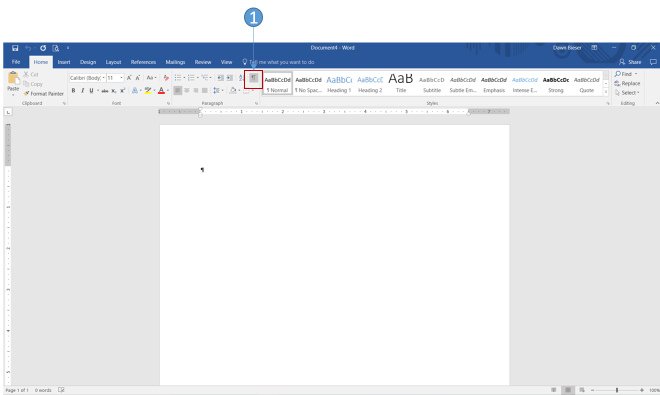 create a memo in word 2016