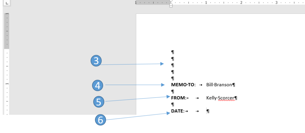 Creating a memo in Word 2016