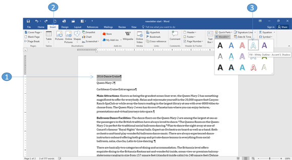how to create a columnar newsletter with word 2016 office skills blog