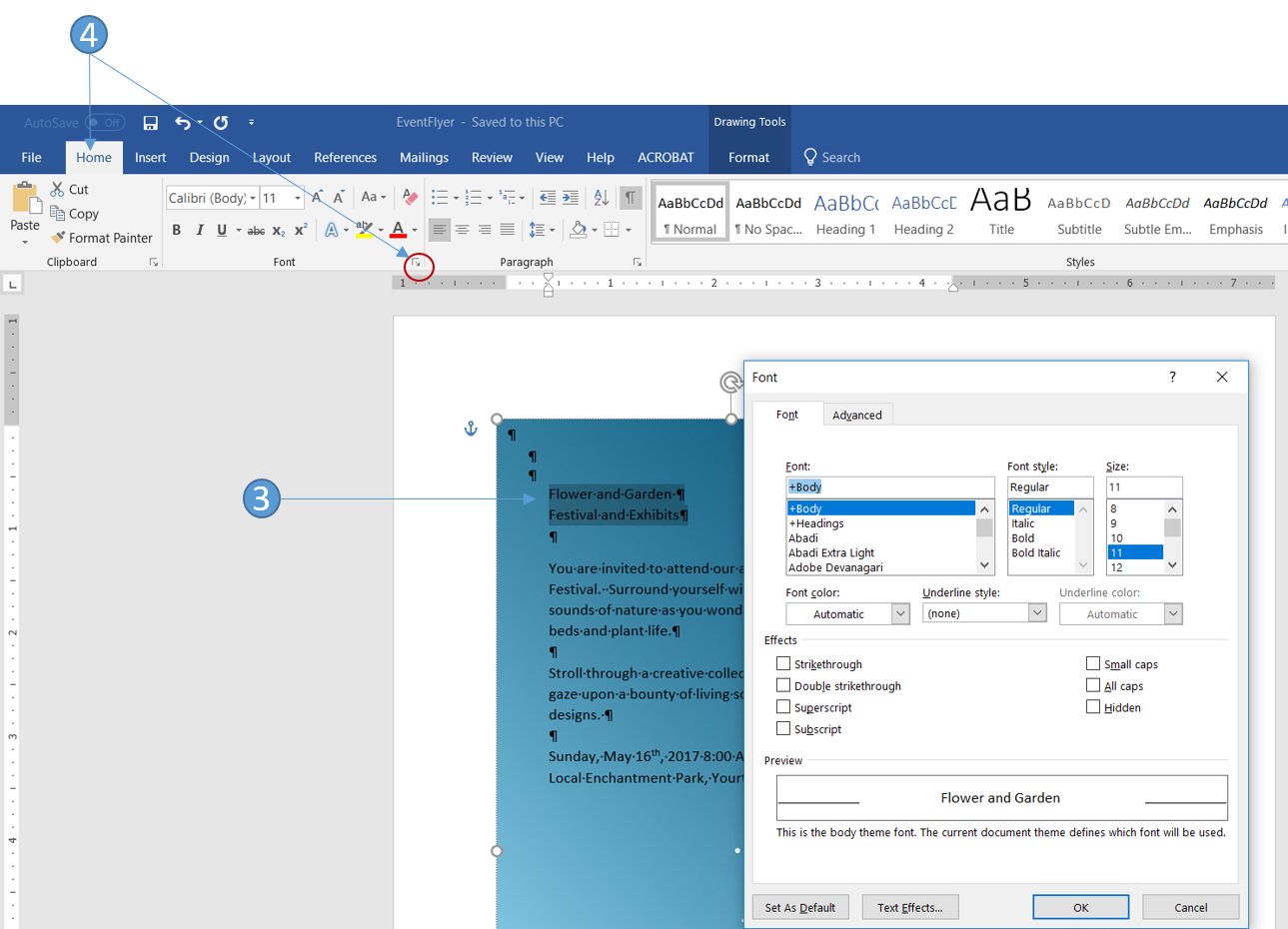 How to Use the Advanced Font Feature in Word to Enhance your