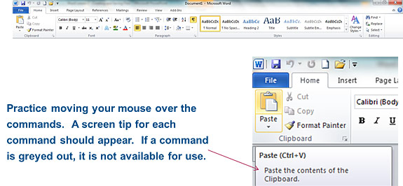 The Home Tab in Word 2010