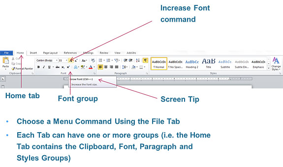 The Ribbon in Word 2010