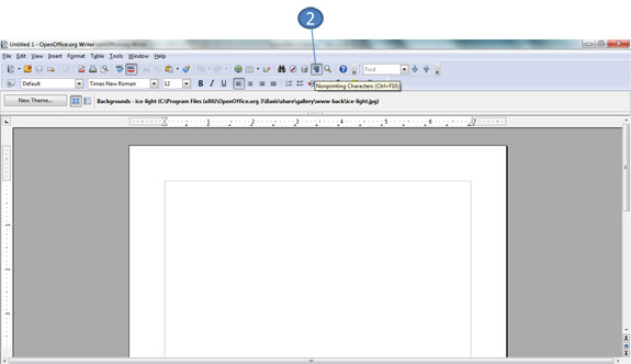 Non printing characters in OpenOffice Writer
